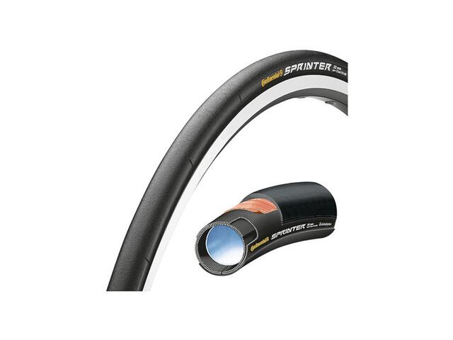 """Continental Sprinter Opony rowerowe 28"""" szytka SafetySystem Breaker  czarny"""